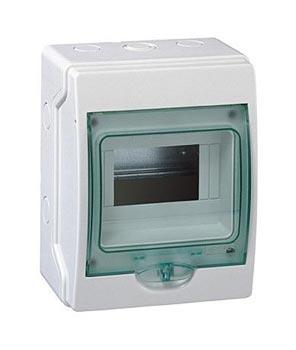 Schneider electric Щит навесной 1 ряд 6 модулей прозрачные двери IP65 (13977)