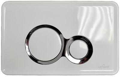 Кнопка Cersanit Otto метал белая цена