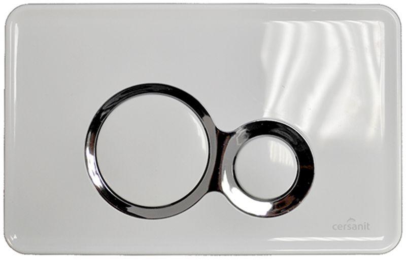 Кнопка Cersanit Otto метал белая