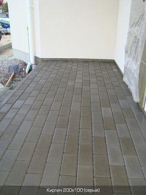 Тротуарная плитка Кирпич Стандартный (серый) 200х100 для пешеходной зоны (4 см) цена