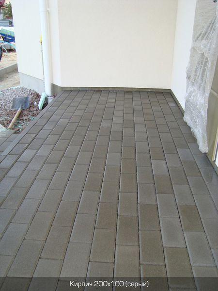 Тротуарная плитка Кирпич Стандартный (серый) 200х100 (8 см)
