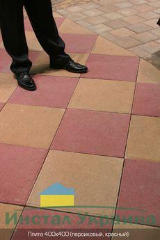 Тротуарная плитка Плита 400х400 (персиковый) (6 см)