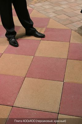Тротуарная плитка Плита 400х400 (красный) (6 см) цена