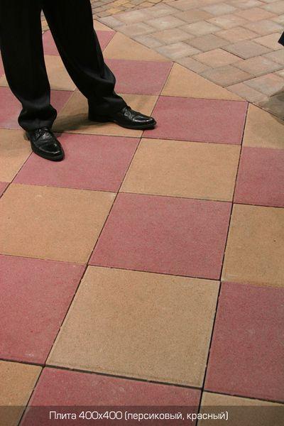 Тротуарная плитка Плита 400х400 (красный) (6 см)