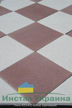 Тротуарная плитка Плита 400х400 (коричневый) (6 см)