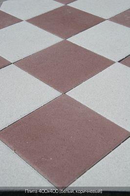 Тротуарная плитка Плита 400х400 (коричневый) (6 см) цена