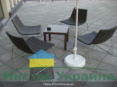Тротуарная плитка Плита 400х400 (серый) (6 см)