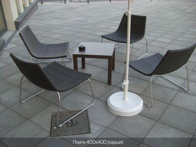 Тротуарная плитка Плита 400х400 (серый) (6 см) цены
