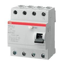 ABB Дифференциальный выключатель напряжения FH204AC-25/0.03, 4P, 25А, 30мА (2CSF204002R1250)