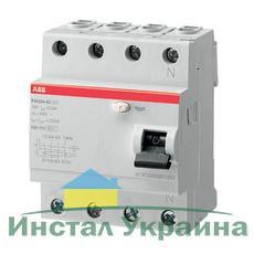 ABB Дифференциальный выключатель напряжения FH204AC-63/0.03, 4P, 63А, 30мА (2CSF204002R1630)
