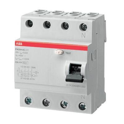 ABB Дифференциальный выключатель напряжения FH204AC-25/0.03, 4P, 25А, 30мА (2CSF204002R1250) цены