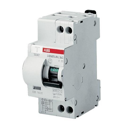 ABB Дифференциальный автоматический выключатель DS951C-25-30AC, 2Р, 25А, 30mА, C, 6kA (16021393)