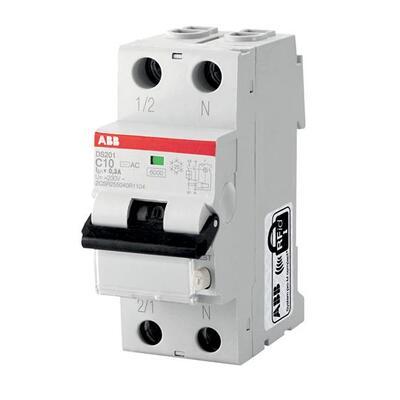 ABB Дифференциальный автоматический выключатель DS201 C16 A10, 16А, 10mА, C, 6kA (2CSR255140R0164) цена