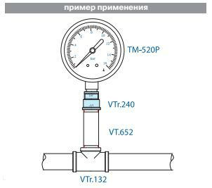 VTr.240.N.0907 Муфта переходная НИКЕЛЬ 2 Rх1 1/4 R Valtec