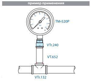 VTr.240.N.0504 Муфта переходная НИКЕЛЬ 3/4 Rх1/2 R Valtec