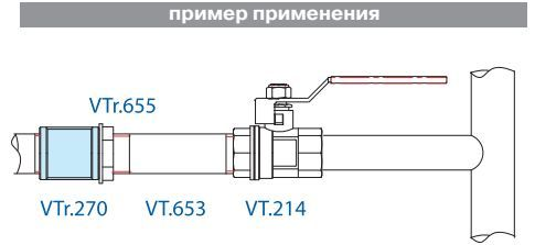 VTr.270.N.0007 Муфта НИКЕЛЬ 1 1/4 R Valtec
