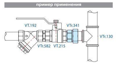 VTr.341.N.0008 Сгон НИКЕЛЬ 1 1/2 R Valtec цена
