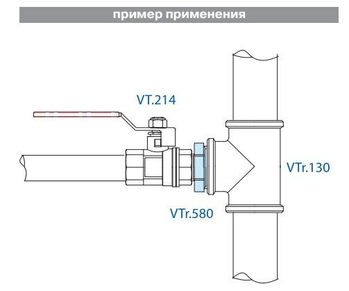 VTr.580.N.0604 Ниппель-переходник 1 Rх1/2 R НИКЕЛЬ Valtec