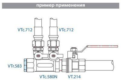 VTr.583.N.0006 Пробка 1 R НИКЕЛЬ Valtec цена
