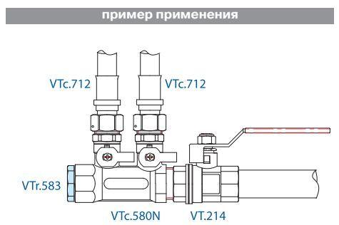VTr.583.N.0006 Пробка 1 R НИКЕЛЬ Valtec