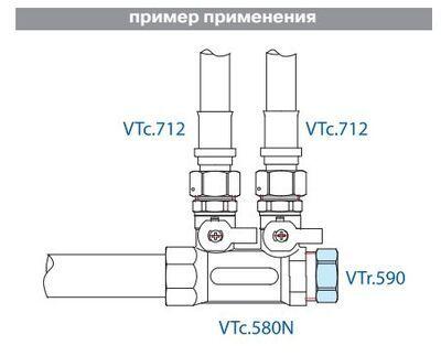 VTr.590.N.0006 Заглушка 1 R НИКЕЛЬ Valtec цена