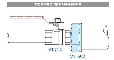 VTr.592.N.0402 Переходник вн.-нар. 1/2 Rх1/4 R НИКЕЛЬ Valtec цена