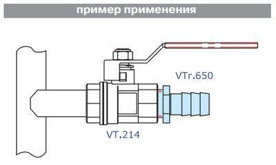 VTr.650.N.0414 Штуцер с нар. резьбой 14 х 1/2 R НИКЕЛЬ Valtec цена