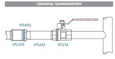 VTr.655.N.0008 Контргайка НИКЕЛЬ 1 1/2 R Valtec цена