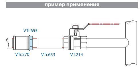 VTr.655.N.0008 Контргайка НИКЕЛЬ 1 1/2 R Valtec