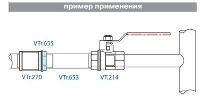 VTr.655.N.0005 Контргайка НИКЕЛЬ 3/4 R Valtec цена