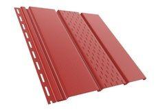 Bryza Софит (сайдинг) перфорированный 4000 мм х 305 мм (Красный)