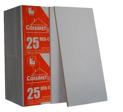 Пенопласт Сонант ПСБС -25 (ДСТУ) 1000х500х40мм цена