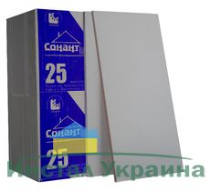 Пенопласт Сонант ФАСАД -25 эконом 1000х500х20мм