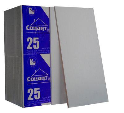 Пенопласт Сонант ФАСАД -25 эконом 1000х500х80мм цена