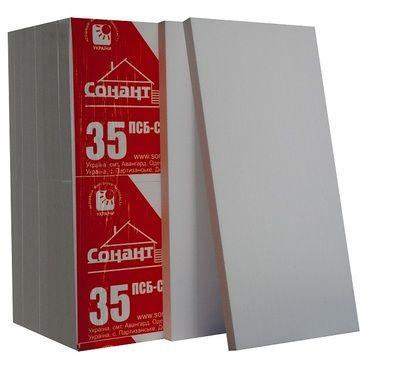 Пенопласт Сонант ПСБС -35 (20-22 кг/м3) 1000х500х100мм цены