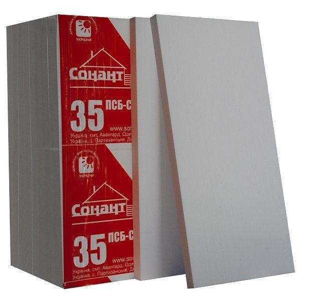 Пенопласт Сонант ПСБС -35 (20-22 кг/м3) 1000х500х100мм