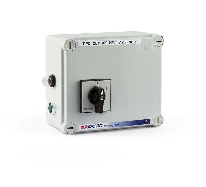 Пульт управления Pedrollo QEM 200 (однофазный) Мощность двигателя: 1,5 кВт