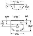 Раковина Gustavsberg LOGIC 53939L01 цена