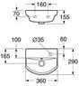 Раковина Gustavsberg LOGIC 53939L01
