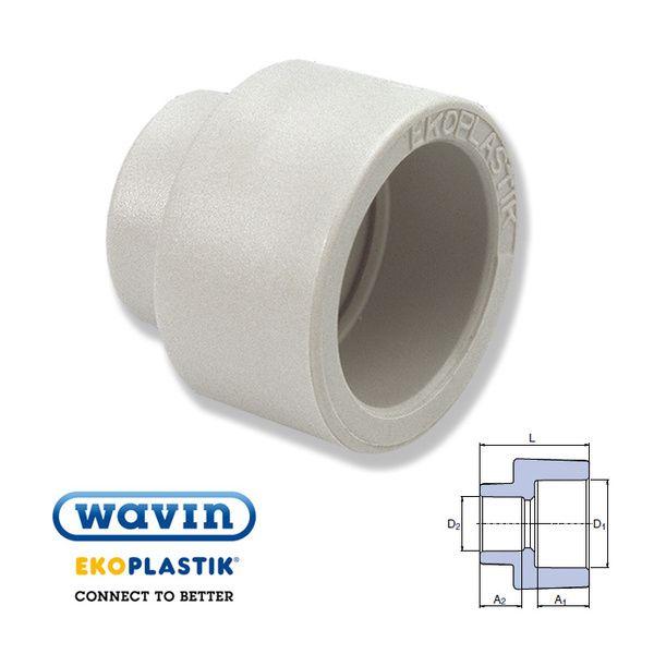 Wavin Ekoplastik Полипропиленовая редукционная муфта (внутр/внутр) 32x25