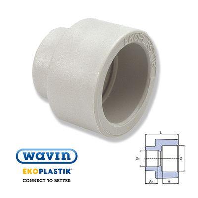 Wavin Ekoplastik Полипропиленовая редукционная муфта (внутр/внутр) 25x20 цены