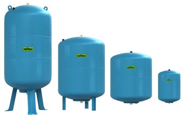 Гидроаккумулятор вертикальный Reflex Refix DE 7348600 80L DE (синий) 16 бар (мембрана сменная)