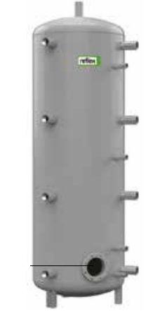 Теплоаккумулирующая емкость без изоляции Reflex H/R 7784600 2000L/R H (серый)