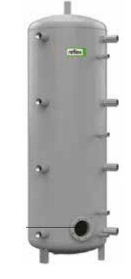 Теплоаккумулирующая емкость без изоляции Reflex H/R 7784005 800L/R H (серый)