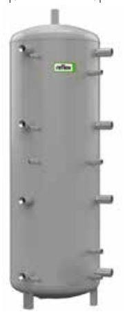 Теплоаккумулирующая емкость без изоляции Reflex H/17788600 4000L/1 H (серый)