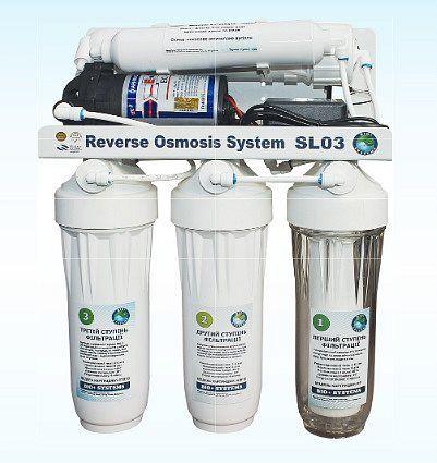 Система обратного осмоса BIO+systems RO-50-SL03M c насосом+минерализатор