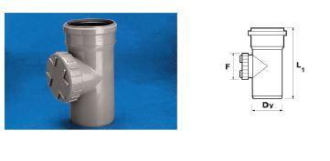 WAVIN EKOPLASTIK Ревизия ВТ/ПВХ, серый; 50 (3060481201) для внутренней канализации