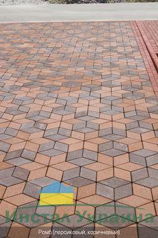 Тротуарная плитка Ромб 150х150 (персиковый) (6 см)