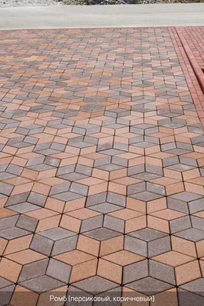 Тротуарная плитка Ромб 150х150 (коричневый) (6 см)
