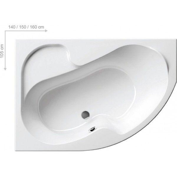 Акриловая ванна Ravak Rosa I 140 x 105 R правосторонняя